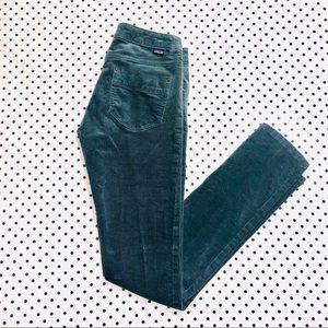 Patagonia Organic Cotton Turquoise Corduroy Pants